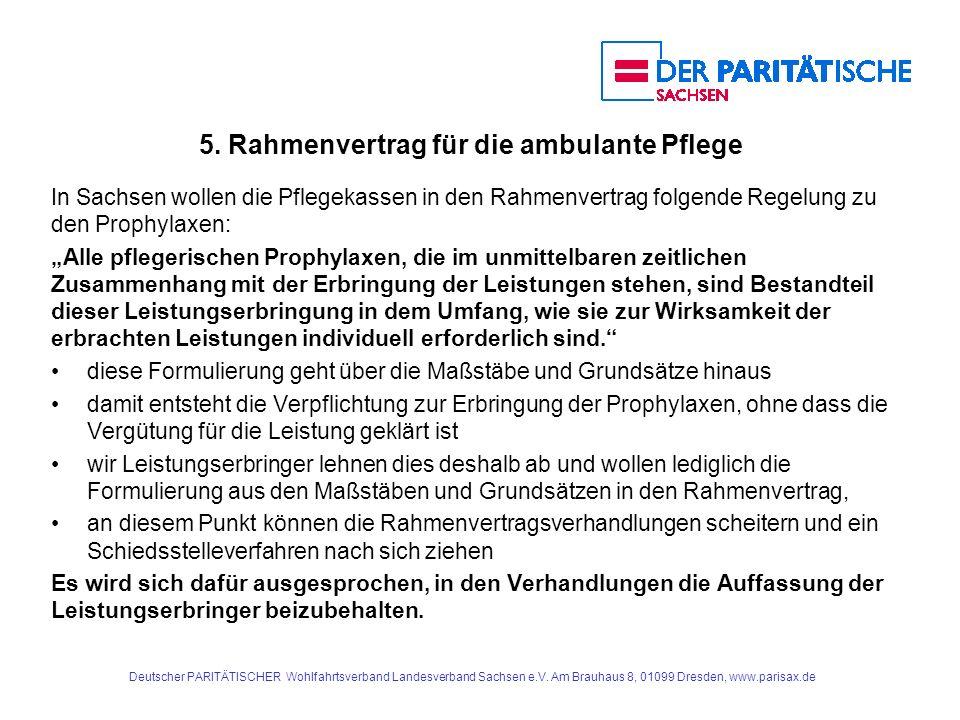 5. Rahmenvertrag für die ambulante Pflege