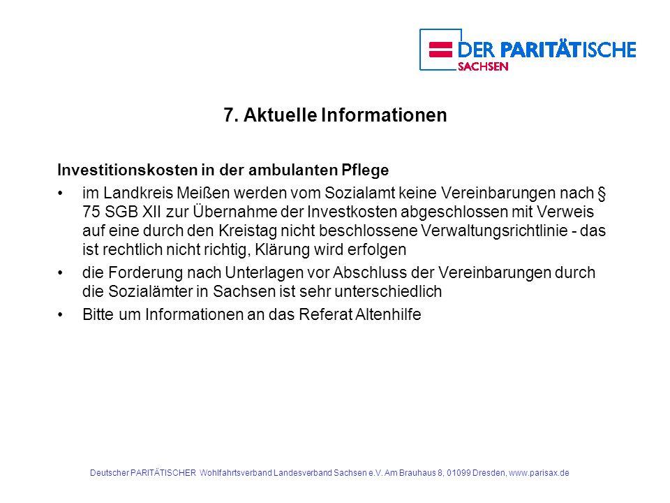7. Aktuelle Informationen