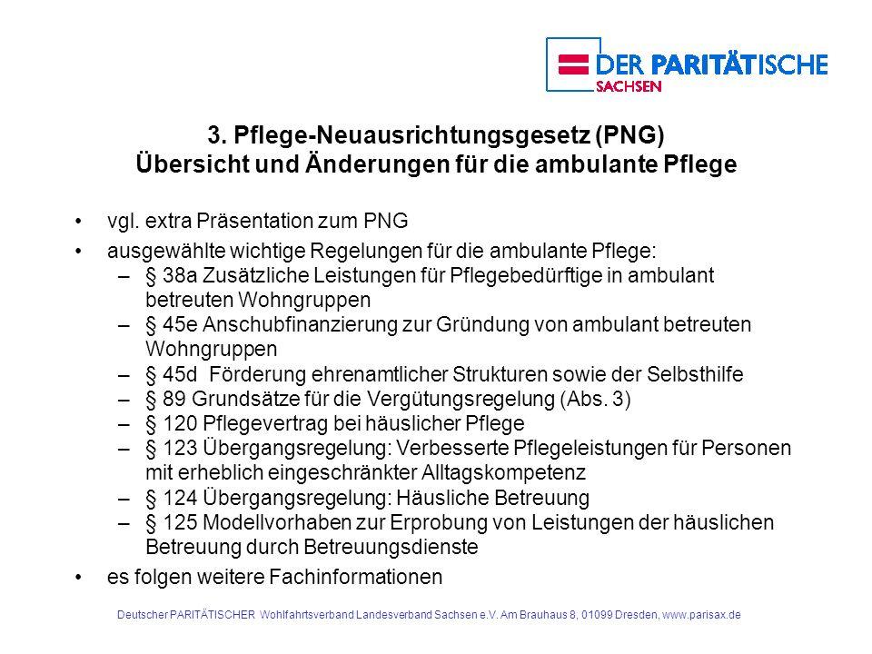 3. Pflege-Neuausrichtungsgesetz (PNG) Übersicht und Änderungen für die ambulante Pflege