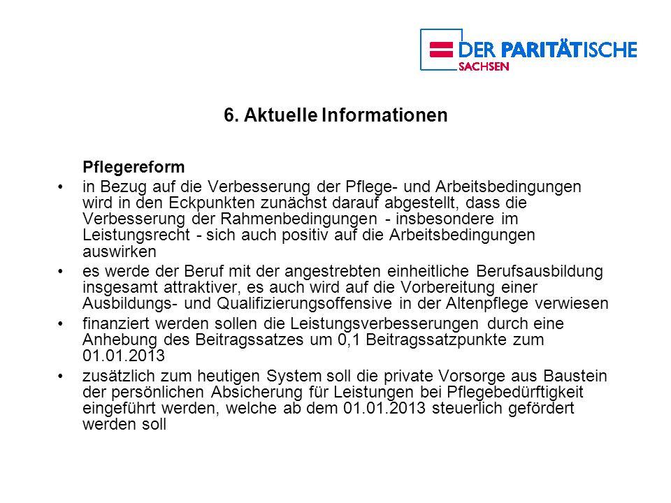 6. Aktuelle Informationen