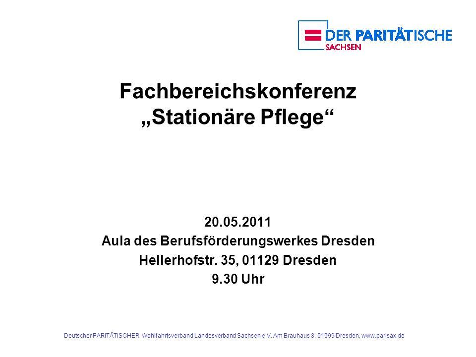 """Fachbereichskonferenz """"Stationäre Pflege"""