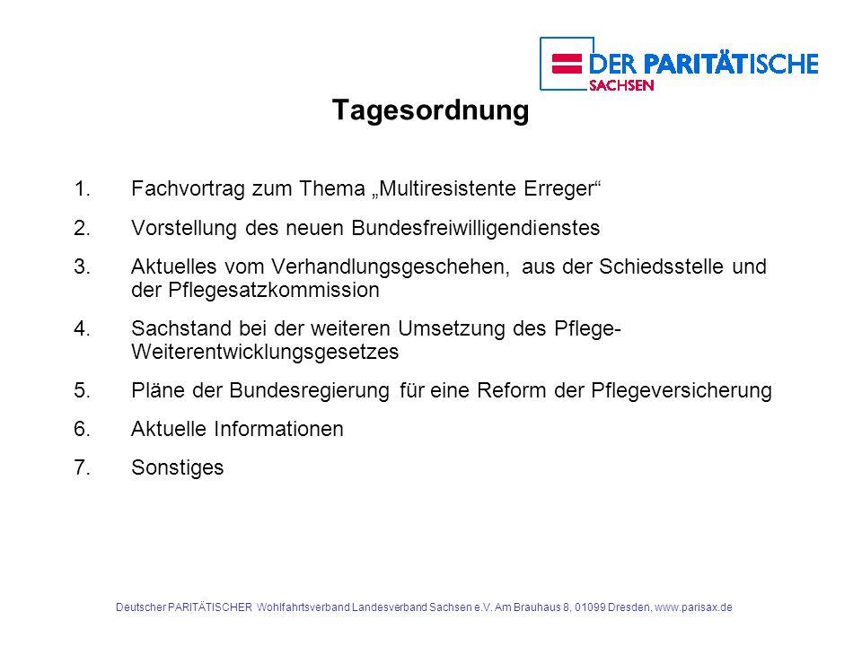 """Tagesordnung 1. Fachvortrag zum Thema """"Multiresistente Erreger"""