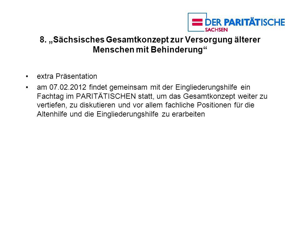 """8. """"Sächsisches Gesamtkonzept zur Versorgung älterer Menschen mit Behinderung"""