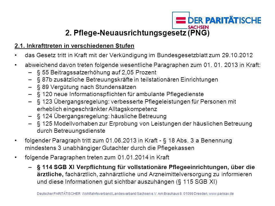 2. Pflege-Neuausrichtungsgesetz (PNG)