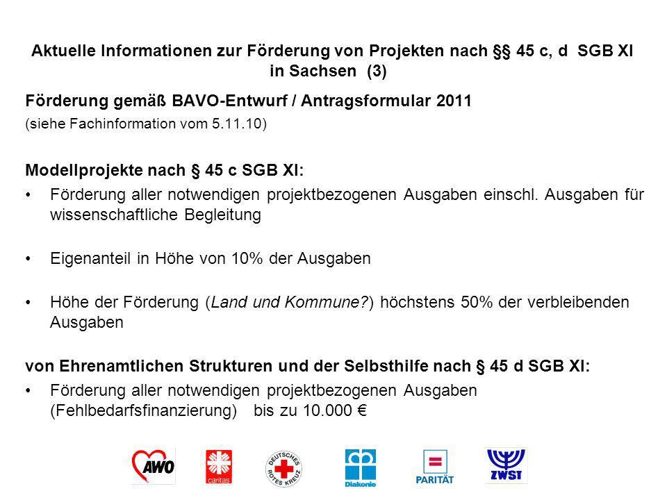 Förderung gemäß BAVO-Entwurf / Antragsformular 2011