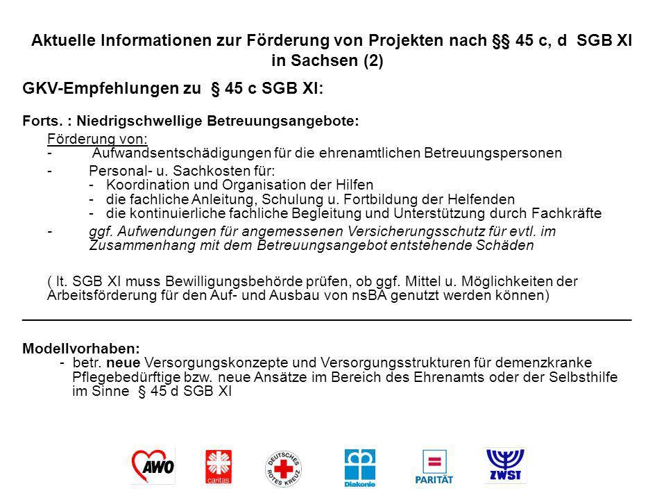 GKV-Empfehlungen zu § 45 c SGB XI: