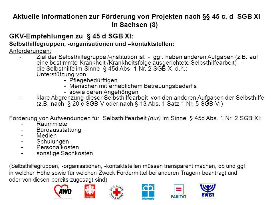 GKV-Empfehlungen zu § 45 d SGB XI: