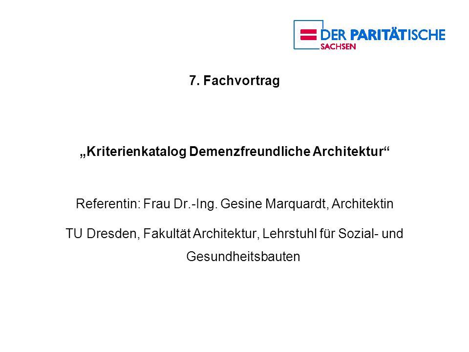 """""""Kriterienkatalog Demenzfreundliche Architektur"""