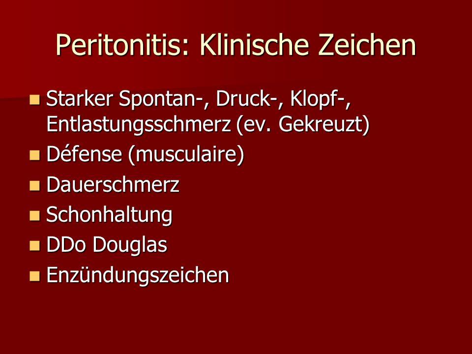 Peritonitis: Klinische Zeichen