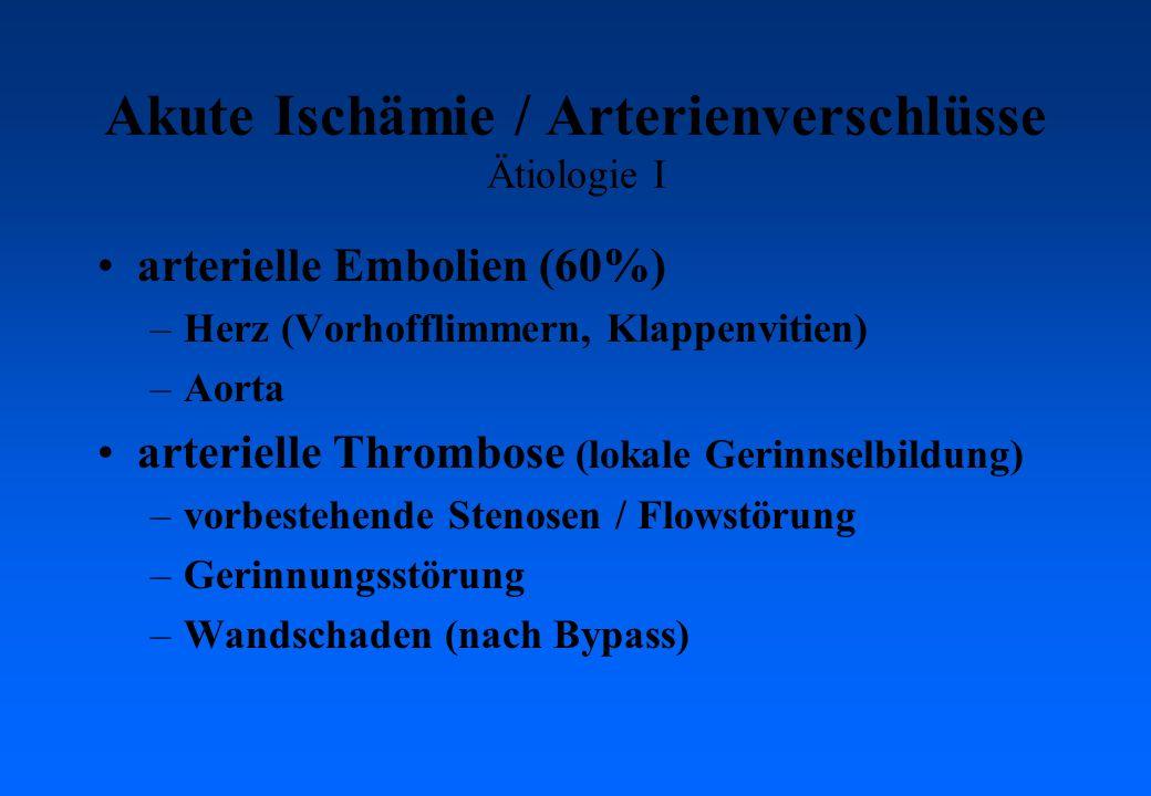 Akute Ischämie / Arterienverschlüsse Ätiologie I