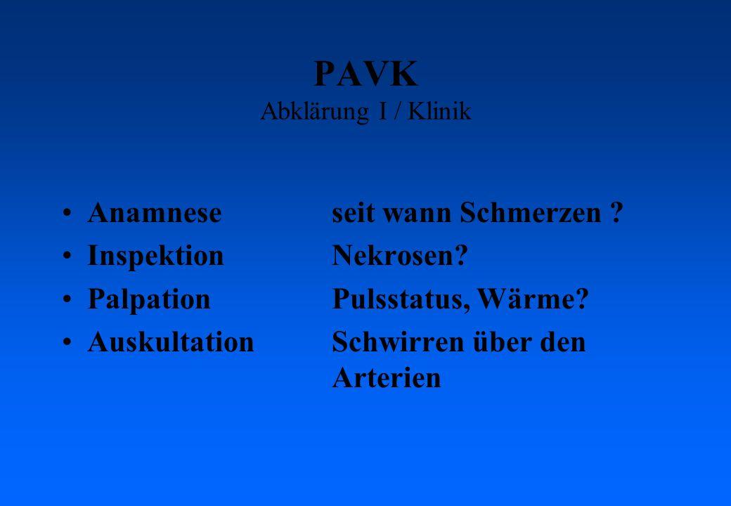 PAVK Abklärung I / Klinik