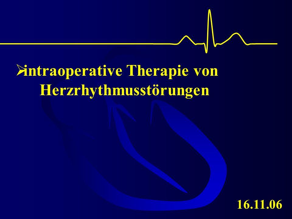 intraoperative Therapie von Herzrhythmusstörungen