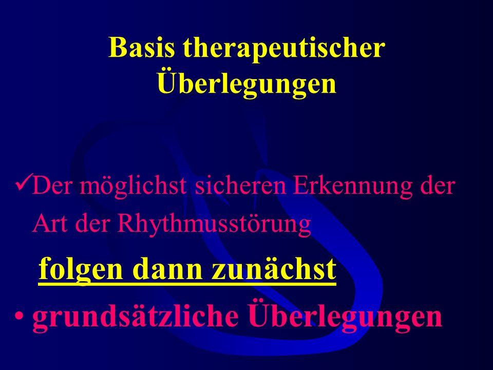 Basis therapeutischer Überlegungen
