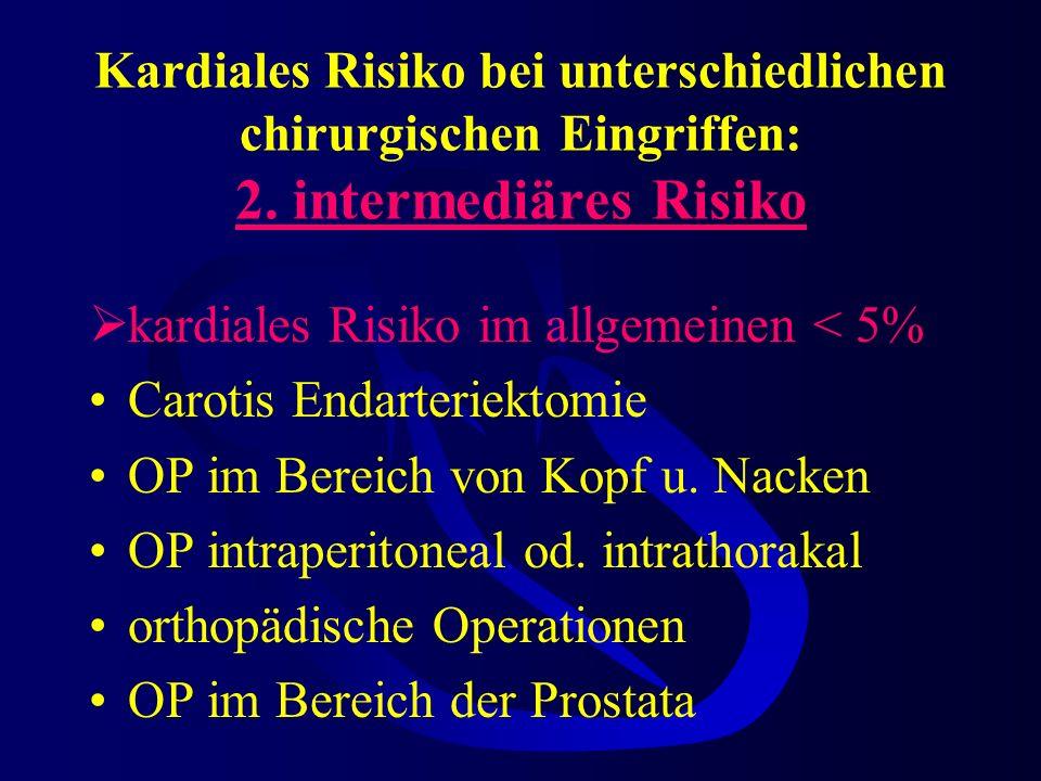 Kardiales Risiko bei unterschiedlichen chirurgischen Eingriffen: 2