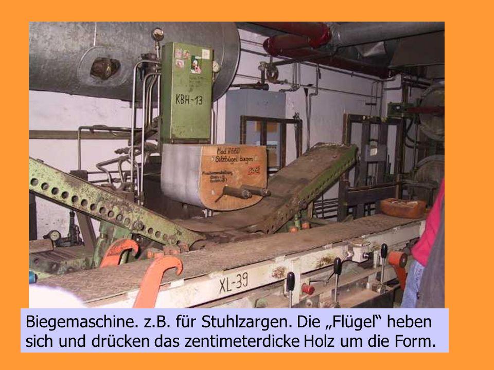 Biegemaschine. z. B. für Stuhlzargen