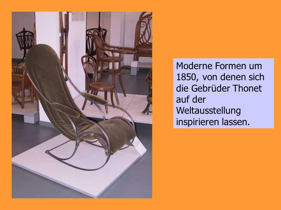 Moderne Formen um 1850, von denen sich die Gebrüder Thonet auf der Weltausstellung inspirieren lassen.