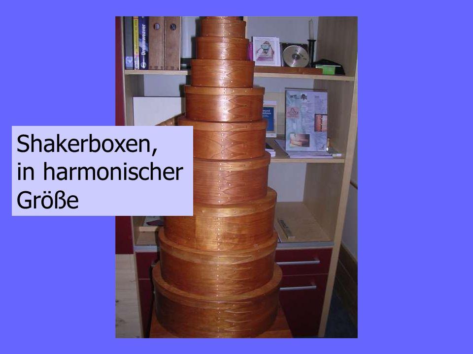 Shakerboxen, in harmonischer Größe