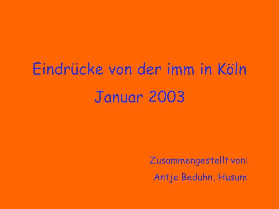 Eindrücke von der imm in Köln Januar 2003