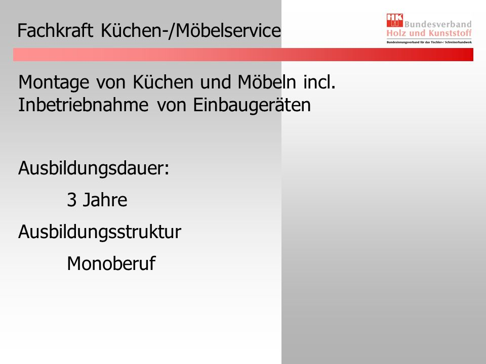 Fachkraft Küchen-/Möbelservice