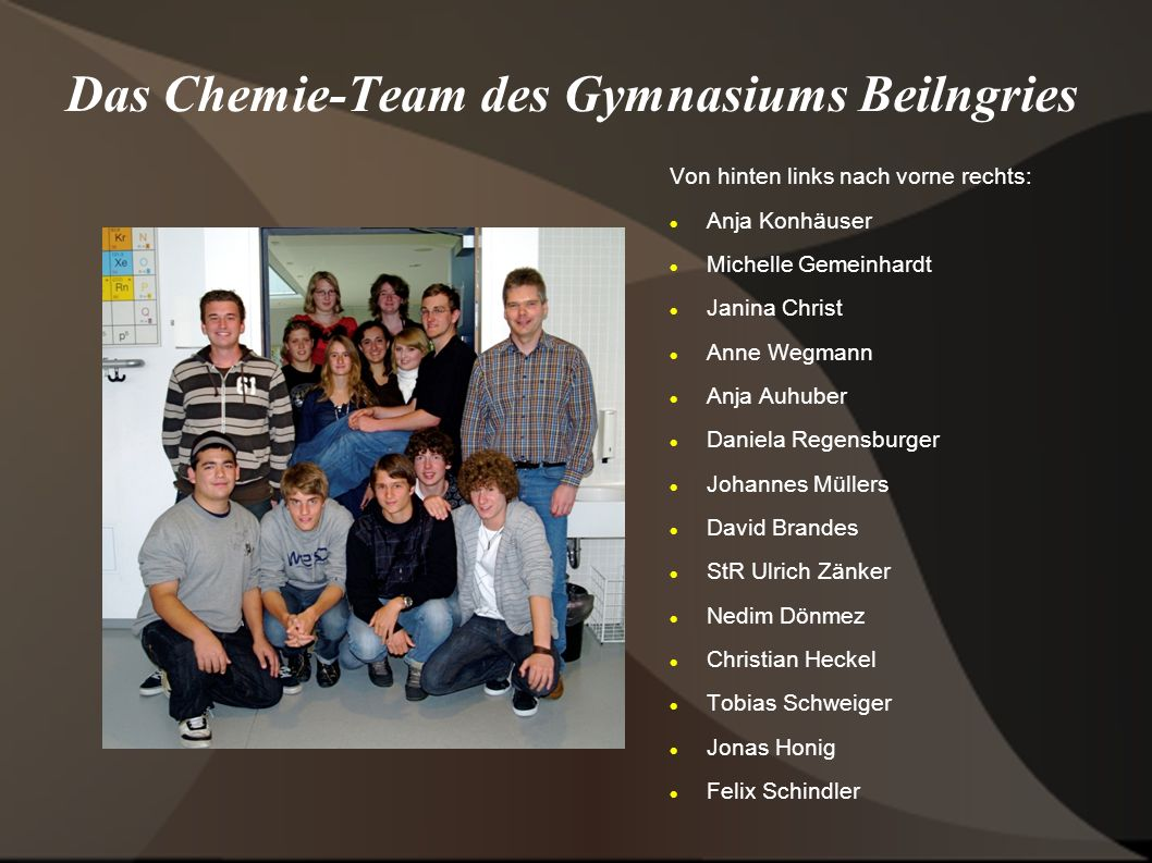 Das Chemie-Team des Gymnasiums Beilngries