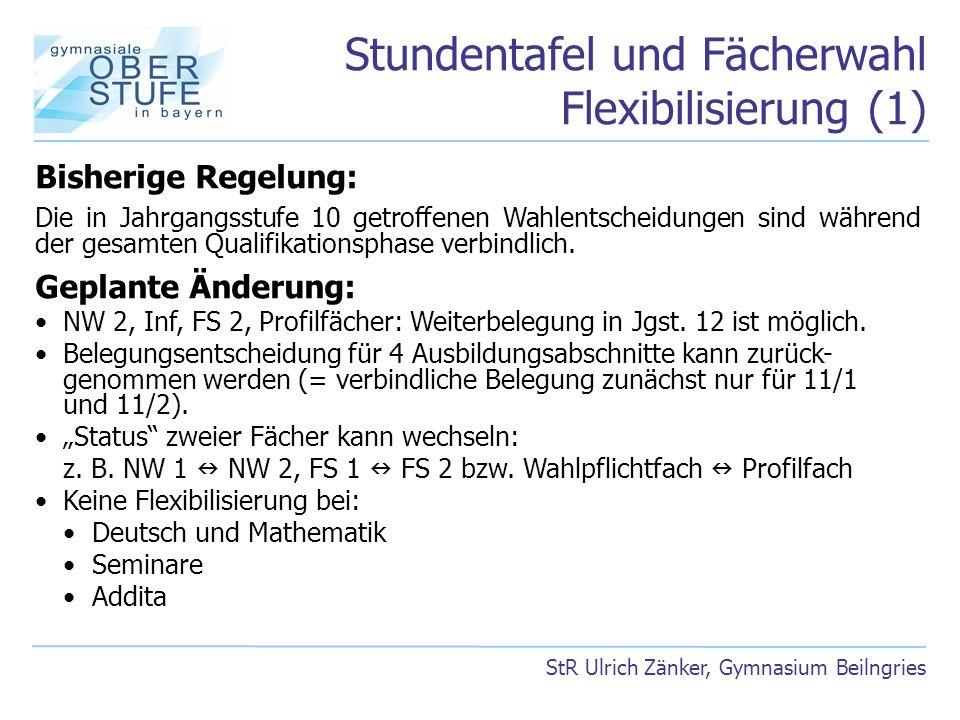 Stundentafel und Fächerwahl Flexibilisierung (1)