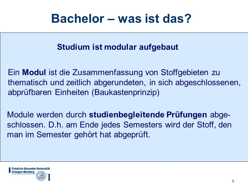 Bachelor – was ist das Studium ist modular aufgebaut