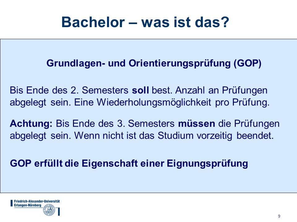 Bachelor – was ist das Grundlagen- und Orientierungsprüfung (GOP)