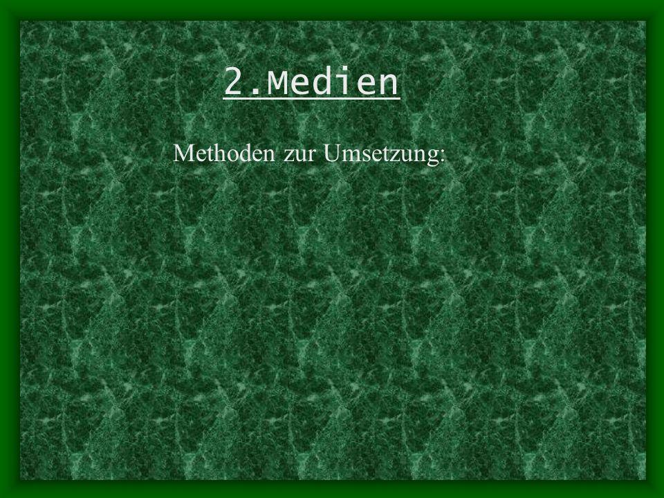 2.Medien Methoden zur Umsetzung: