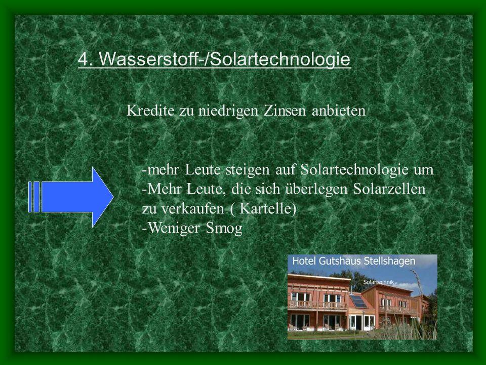4. Wasserstoff-/Solartechnologie