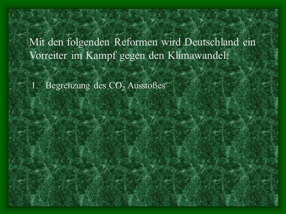 Mit den folgenden Reformen wird Deutschland ein Vorreiter im Kampf gegen den Klimawandel: