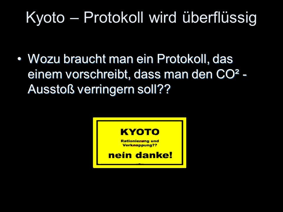 Kyoto – Protokoll wird überflüssig
