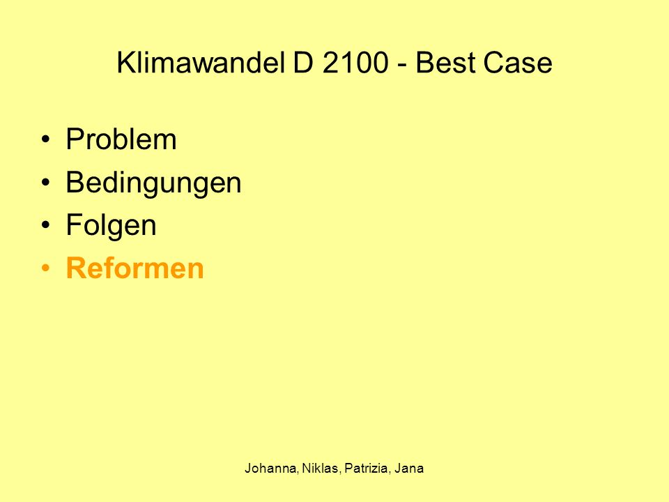 Klimawandel D 2100 - Best Case