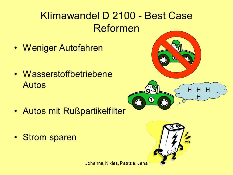 Klimawandel D 2100 - Best Case Reformen