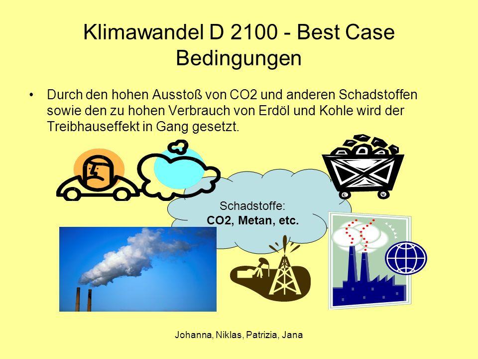 Klimawandel D 2100 - Best Case Bedingungen