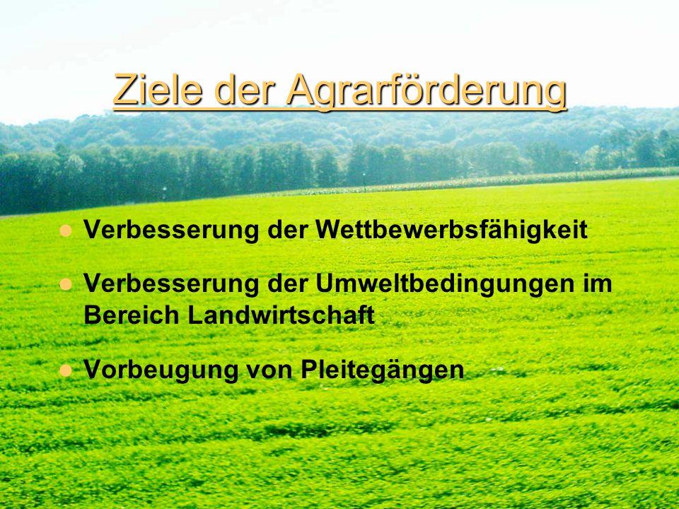Ziele der Agrarförderung
