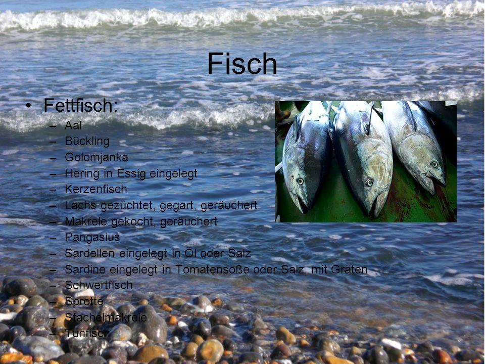 Fisch Fettfisch: Aal Bückling Golomjanka Hering in Essig eingelegt