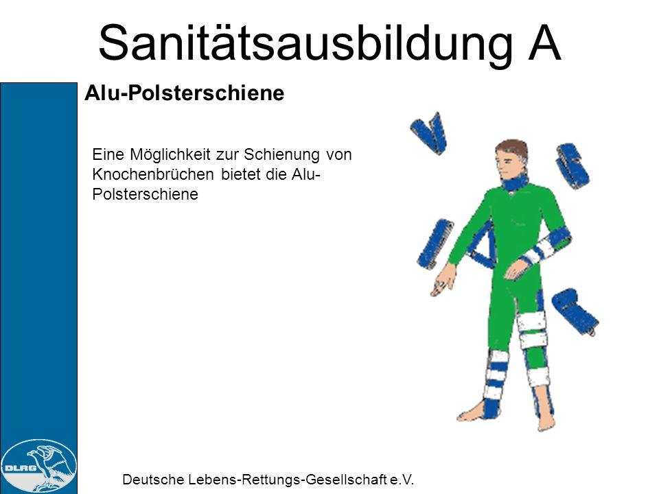 Sanitätsausbildung A Alu-Polsterschiene