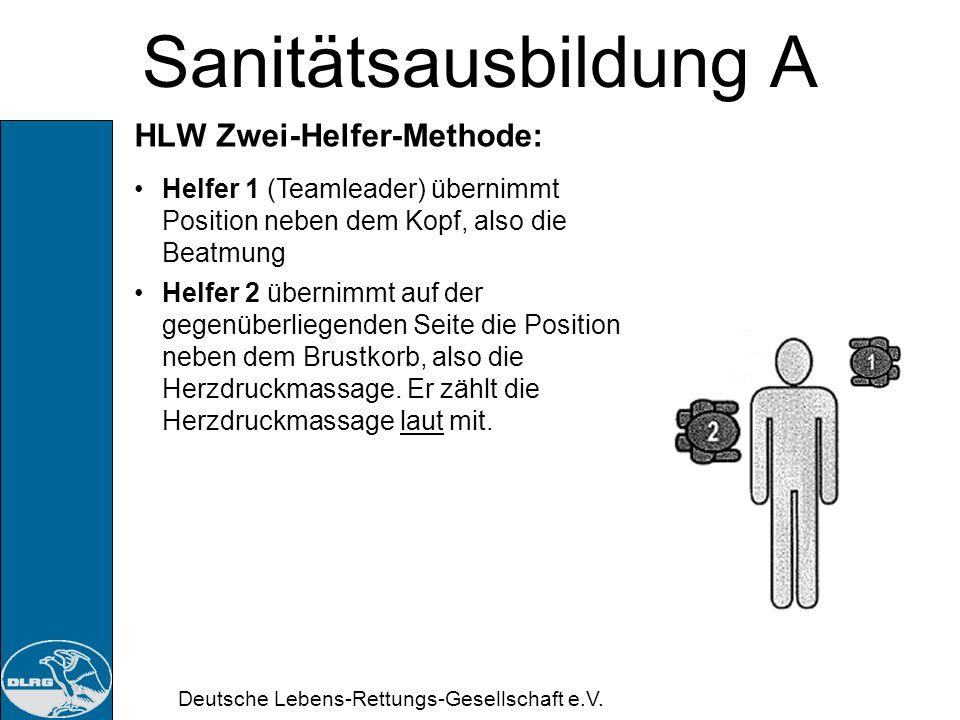 Sanitätsausbildung A HLW Zwei-Helfer-Methode: