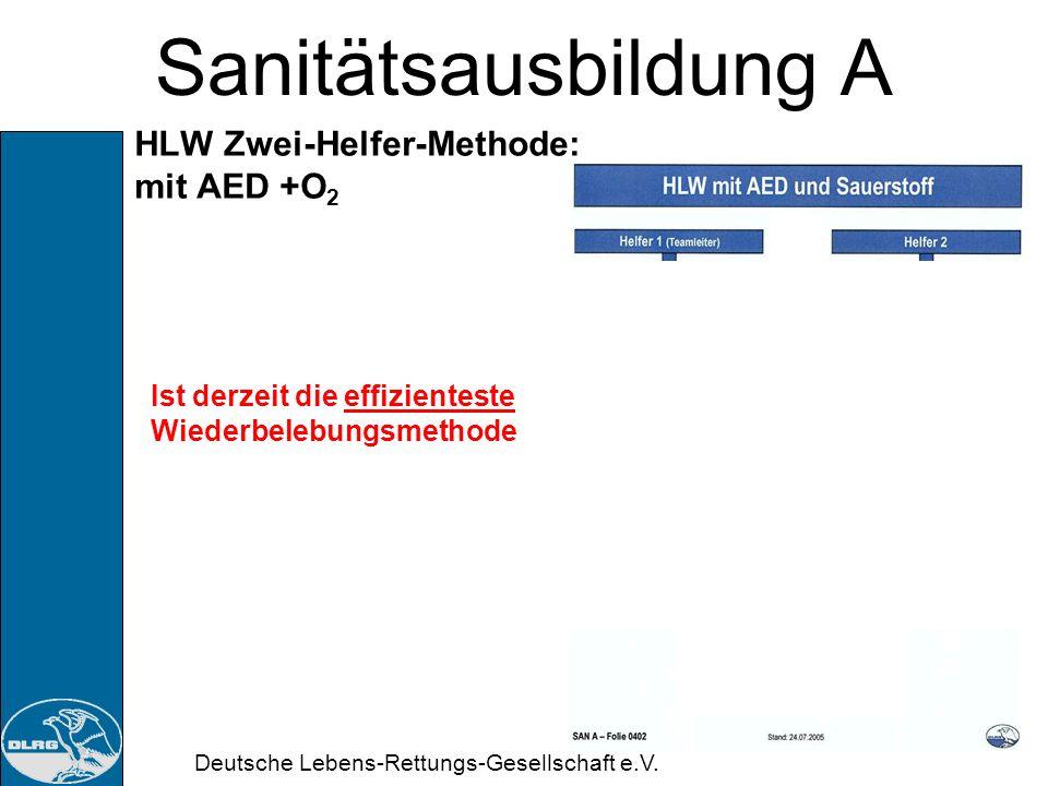 Sanitätsausbildung A HLW Zwei-Helfer-Methode: mit AED +O2