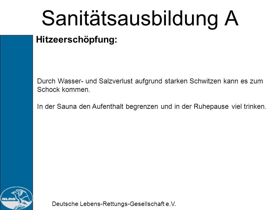 Sanitätsausbildung A Hitzeerschöpfung: