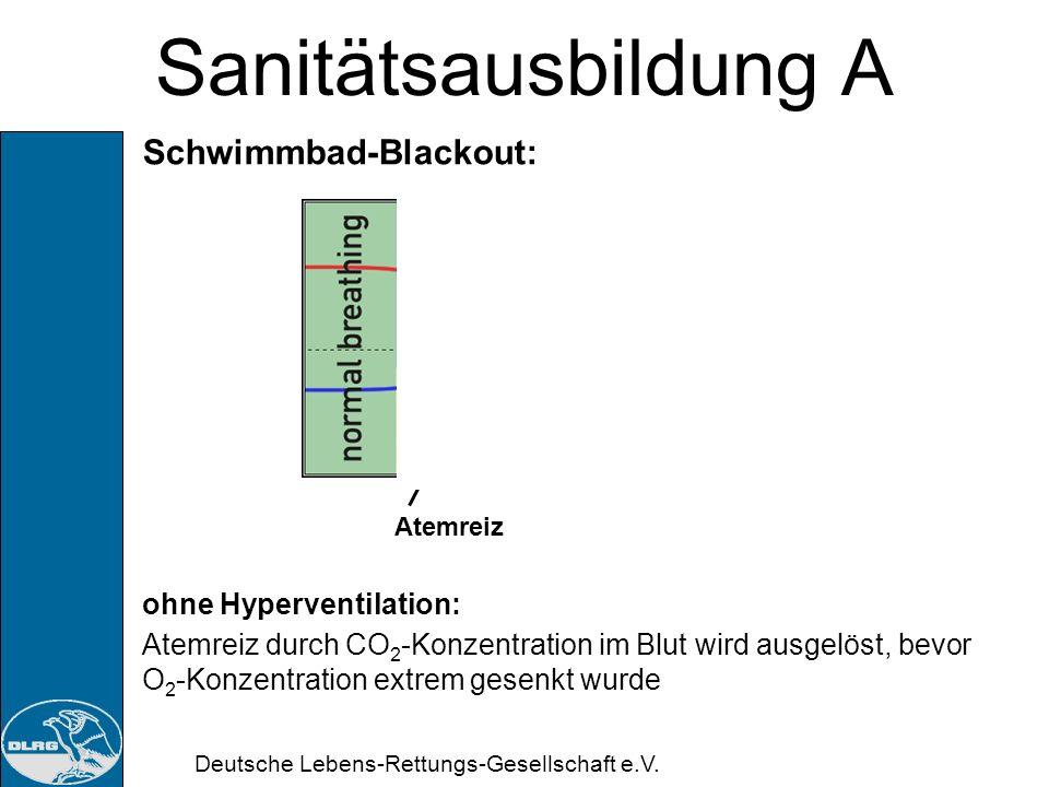 Sanitätsausbildung A Schwimmbad-Blackout: ohne Hyperventilation: