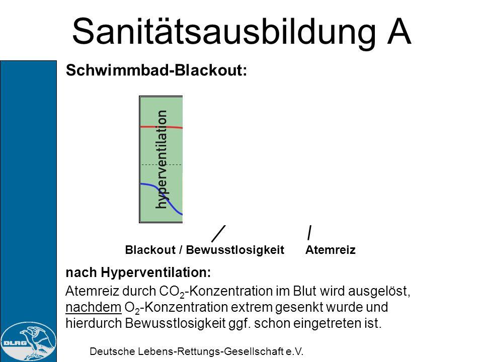 Sanitätsausbildung A Schwimmbad-Blackout: nach Hyperventilation: