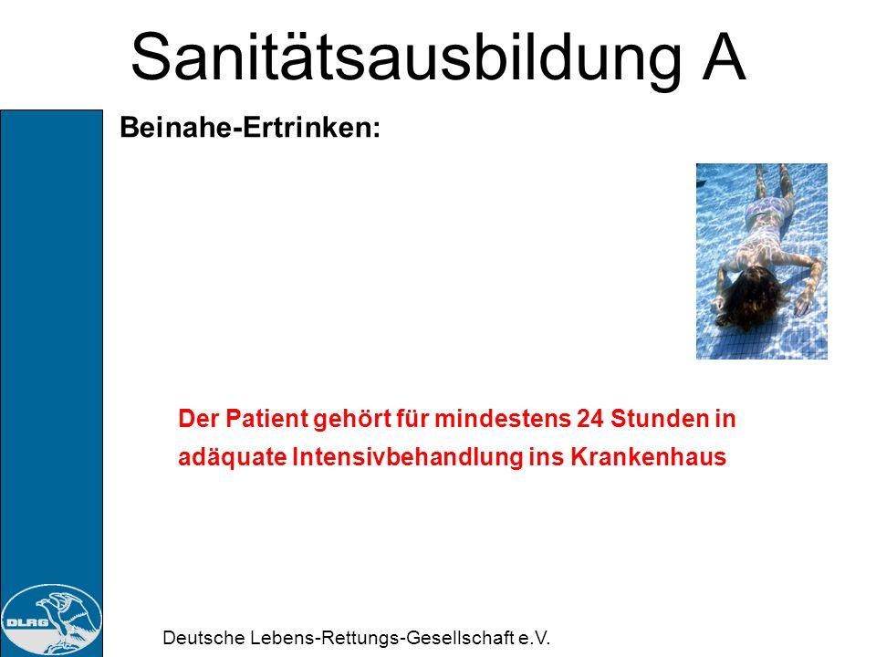 Sanitätsausbildung A Beinahe-Ertrinken: