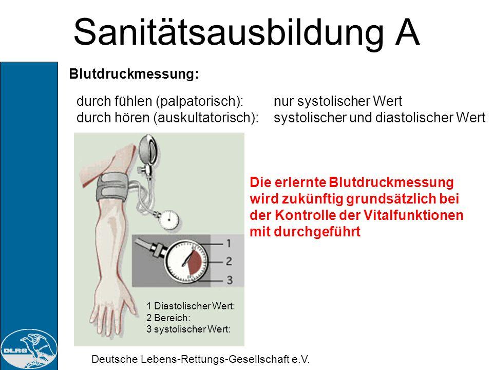 Sanitätsausbildung A Blutdruckmessung: