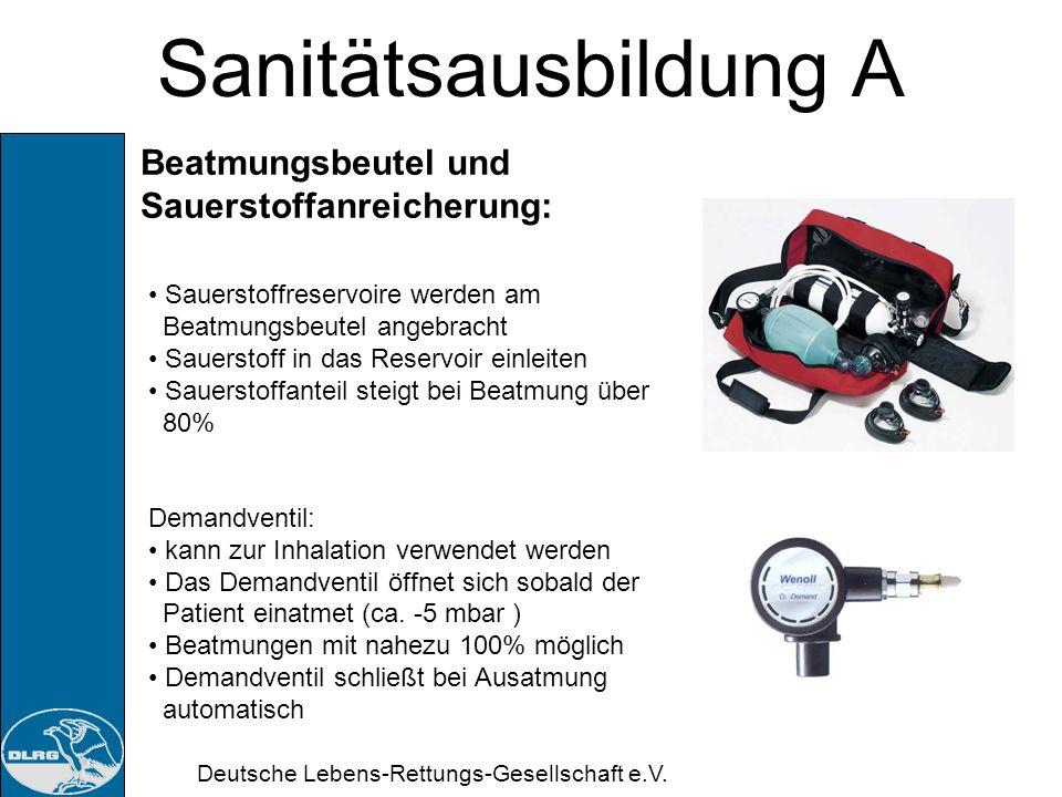 Sanitätsausbildung A Beatmungsbeutel und Sauerstoffanreicherung: