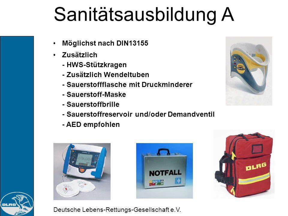 Sanitätsausbildung A Möglichst nach DIN13155