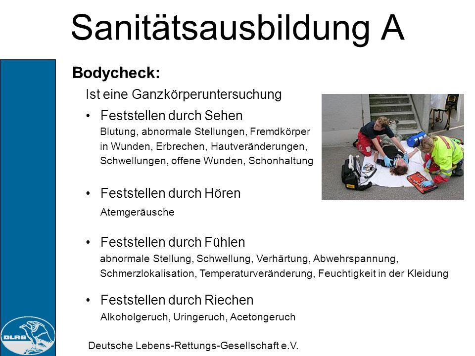 Sanitätsausbildung A Bodycheck: Ist eine Ganzkörperuntersuchung