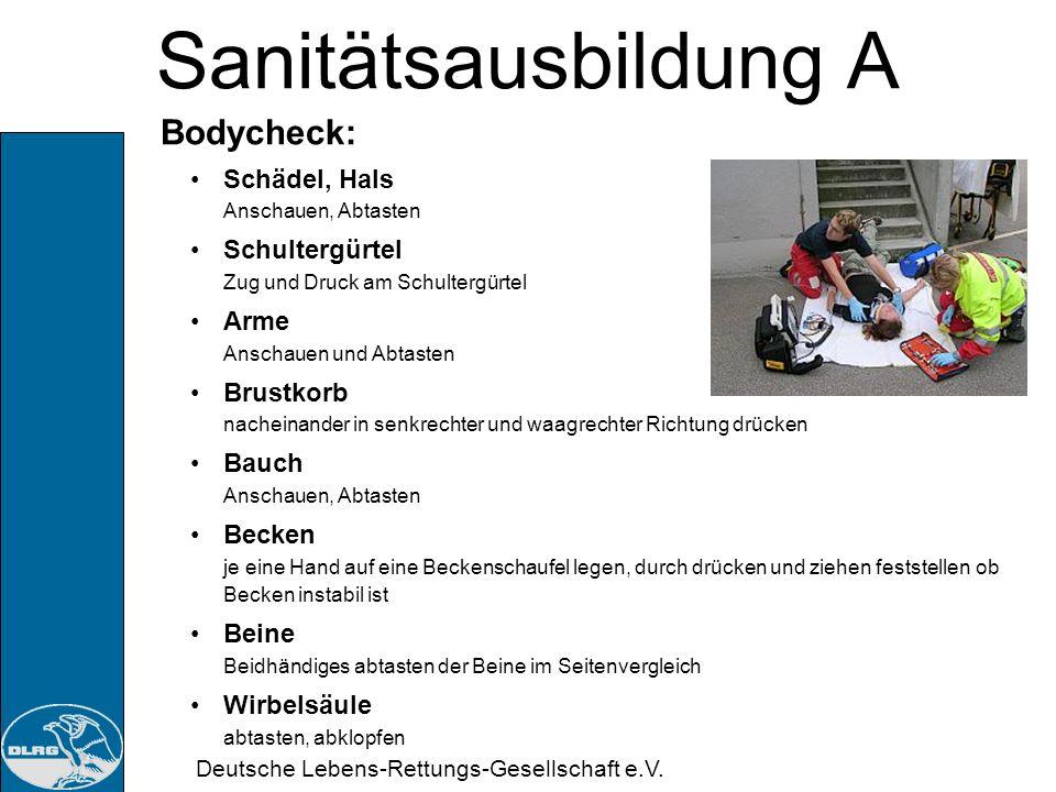 Sanitätsausbildung A Bodycheck: Schädel, Hals Anschauen, Abtasten