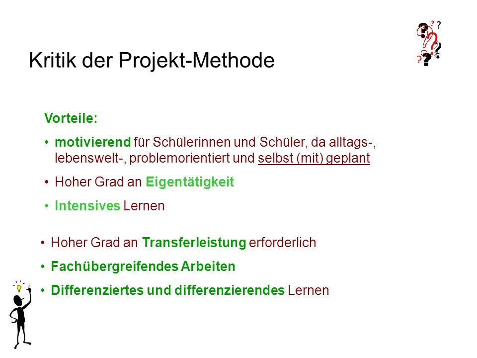 Kritik der Projekt-Methode