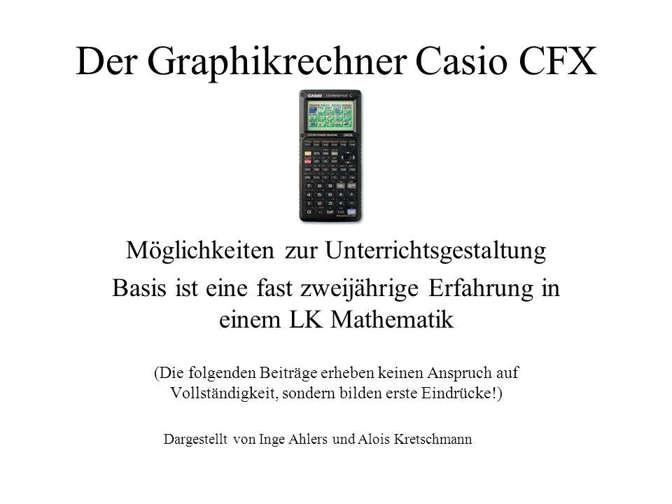 Der Graphikrechner Casio CFX